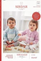 Sirdar Snuggly 100% Merino 4 ply Knitting Pattern Booklet - 5300 Sweaters & Cardigans
